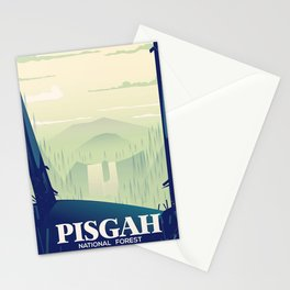 North Carolina Pisgah national park travel poster Stationery Cards