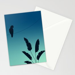 Parrott & Palm tree Stationery Cards