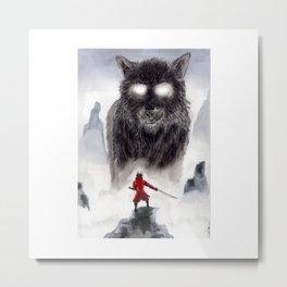 The Wolf of Bushido Metal Print