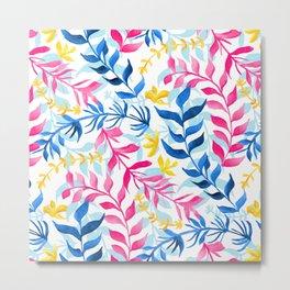 Vibrant Gouache Sea Plants  Metal Print