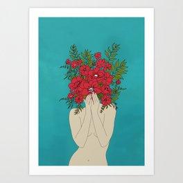 Blooming Red Kunstdrucke