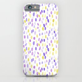 Painted Rain | Purple and Yellow iPhone Case