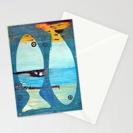 Who's looking? Blue version Stationery Cards