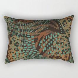 Abstract Tribal Floral Eucalyptus Rectangular Pillow