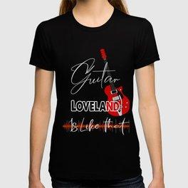 Loveland ColoradoGuita Music is like that retro Custom T-shirt