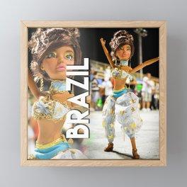 Carnaval em Florianópolis - Brazil Framed Mini Art Print