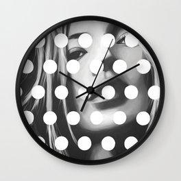 Kate Moss x Dots by Moe Notsu Wall Clock