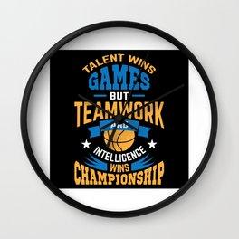 Basketball Ball Sport Cohesion Teamwork Wall Clock