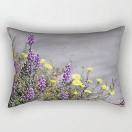 Arial Raid on Flowers Rectangular Pillow