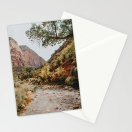 Zion Canyon National Park / Virgin River / Utah Stationery Cards