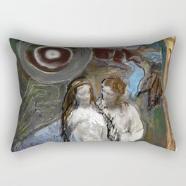 In the time of the long dark night Rectangular Pillow