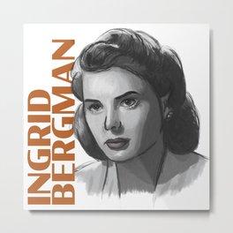 1940s Bergman Metal Print