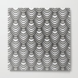 Sync in Black and White Metal Print