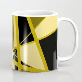 Triangles Mikado pattern yellow gold brown black Coffee Mug