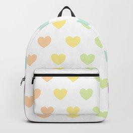 Pastel Rainbow Hearts Backpack
