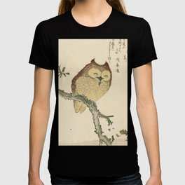 Japanese Woodcut: Owl on a Magnolia Branch T-shirt