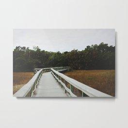Bridge Over Everglades National Park in Florida Metal Print