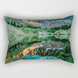 Sun Ridge Lake Reflection // Incredible Backpacking Trip Wild Flowers and Natural Beauty Rectangular Pillow