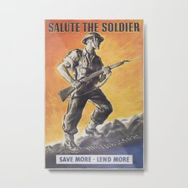 The Liberator, Reprint of wartime Poster Metal Print