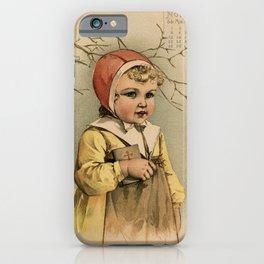Swedish Girl Maud Humphrey iPhone Case
