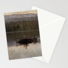 Fishing in Silence Stationery Cards