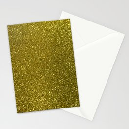 Classic Bright Sparkly Gold Glitter Stationery Cards