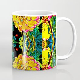 Dahlia dimensions pattern Coffee Mug
