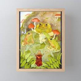 Toad Council Framed Mini Art Print
