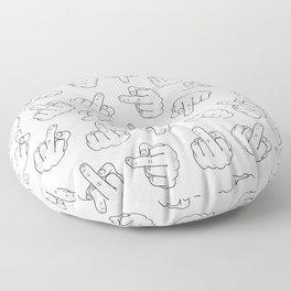 Middle Finger 1 Floor Pillow