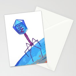 Bacteriophage - virus inspired illustration Stationery Cards
