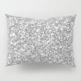 Silver Gray Glitter Kissenbezug