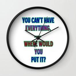 """Funny One-Liner """"Hoarding"""" Joke Wall Clock"""