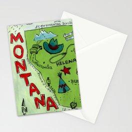MONTANA map Stationery Cards
