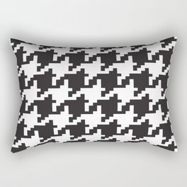 Houndstooth - Black & White Rectangular Pillow