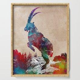 Alpine ibex  Serving Tray