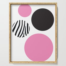 Pink zebra Serving Tray