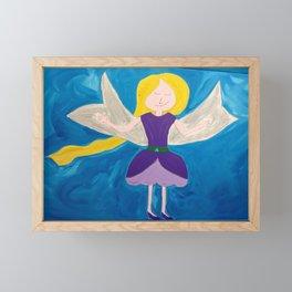 Purple Fairy Painting Framed Mini Art Print