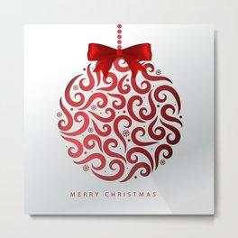 Decorative Christmas Ornament Pattern Metal Print
