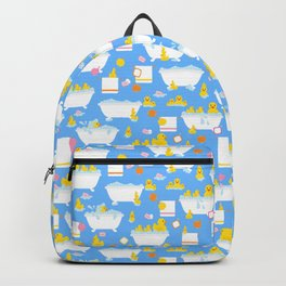 Rubber Duck Baby Bath Time Pattern Backpack