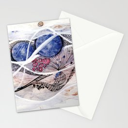 Space Planet Star Abstraction Stationery Cards