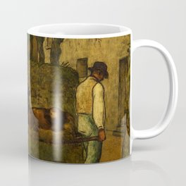 "Jean-François Millet ""Bringing home the calf born in the fields"" Coffee Mug"