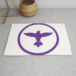 Dove Spreading Wings Circle Rug