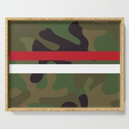Pattern Army Camouflage Serving Tray