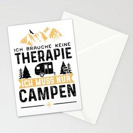 Ich Brauche Keine Therapie Ich Muss Nur Campen Stationery Cards