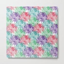 chrysanthemum pattern Metal Print