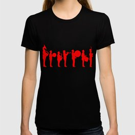 Marching band red T-shirt
