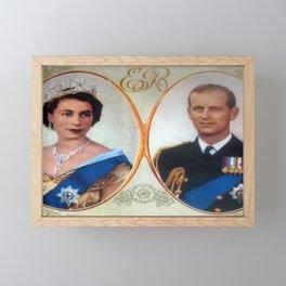 Queen Elizabeth 11 & Prince Philip in 1952 Framed Mini Art Print