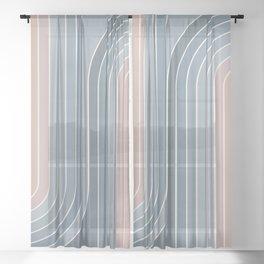 Gradient Curvature V Sheer Curtain