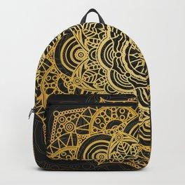 Gold mandala card Backpack