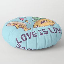 Love is Love Pineapple Pizza // Pride, LGBTQ, Gay, Trans, Bisexual, Asexual Floor Pillow
